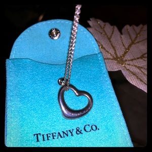 Authentic Tiffany silver heart necklace